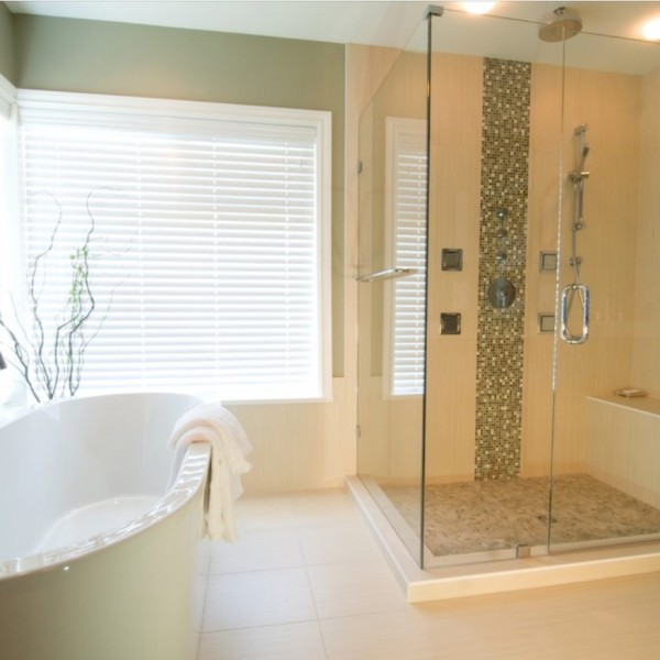 custom bathroom renovation freestanding tub and custom shower